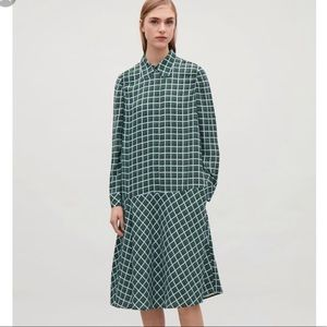 COS Drop Waist Checkered Dress